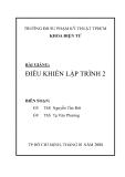 BÀI GIẢNG ĐIỀU KHIỂN LẬP TRÌNH 2 - CHƯƠNG I: PLC S7-300
