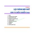 GIÁO TRÌNH VI XỬ LÝ 1 - CHƯƠNG 5. LẬP TRÌNH CHO VI ĐIỀU KHIỂN 80C51