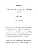 HIẾN PHÁP  NƯỚC CỘNG HOÀ XÃ HỘI CHỦ NGHĨA VIỆT NAM  NĂM 1992 - LỜI NÓI ĐẦU