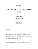 HIẾN PHÁP NƯỚC CỘNG HOÀ XÃ HỘI CHỦ NGHĨA VIỆT NAM  NĂM 1992 - CHƯƠNG VIII
