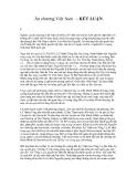 Ấn chương Việt Nam - KẾT LUẬN