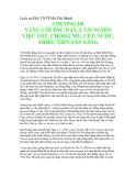 Lịch sử Đội TNTP Hồ Chí Minh - CHƯƠNG III VÂNG LỜI BÁC DẠY, LÀM NGHÌN VIỆC TỐT, CHỐNG MỸ, CỨU NƯỚC, THIẾU NIÊN SĂN SÀNG