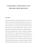 CÓ THAI TRONG VÀ THAI NGOÀI TỬ CUNG TRONG ĐIỀU TRỊ HỖ TRỢ SINH SẢN