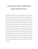 CẬP NHẬT KIẾN THỨC VỀ HỘI CHỨNG BUỒNG TRỨNG ĐA NANG
