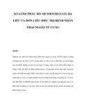 SO SÁNH PHÁC ĐỒ METHOTREXATE ĐA LIỀU VÀ ĐƠN LIỀU ĐIỀU TRỊ BỆNH NHÂN THAI NGOÀI TỬ CUNG