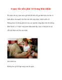 6 quy tắc nên phá vỡ trong hôn nhân