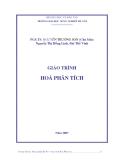 Giáo trình hóa phân tích - Chương 1 Các khái niệm cơ bản của hóa phân tích