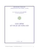 Giáo trình kỹ thuật sấy nông sản - Chương 1