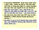 Điện tử học : Transistor trường ứng( FET) part 7