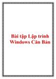 Bài tập Lập trình Windows Căn Bản