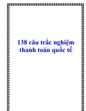 138 câu trắc nghiệm thanh toán quốc tế
