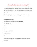 Hướng dẫn định dạng văn bản bằng CSS