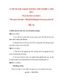 14 ĐỀ THI THỬ CD&DH TRƯỜNG TPHP VÕ QUẾ 1- NĂM 2011 Môn thi: ĐỊA LÝ, Khối C Thời