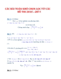 CÁC BÀITOÁN KHÓ CHỌN LỌC TỪ CÁC ĐỀ THI 2010– 2011_2