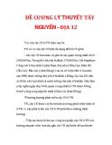 ĐỀ CƯƠNG LÝ THUYẾT TÂY NGUYÊN - ĐỊA 12_2