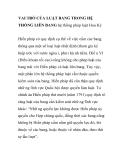 VAI TRÒ CỦA LUẬT BANG TRONG HỆ THỐNG LIÊN BANG HỆ THỐNG PHÁP LUẬT HOA KỲ