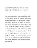 BẢN CHẤT VÀ CĂN NGUYÊN CỦA TỘI PHẠM HỆ THỐNG PHÁP LUẬT HOA KỲ