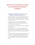 HỘI CHỨNG SUY KIỆT PHỔI CẤP TÍNH (ACUTE RESPIRATORY DISTRESS SYNDROME)