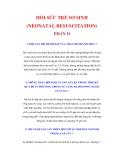 HỒI SỨC TRẺ SƠ SINH (NEONATAL RESUSCITATION) PHẦN II