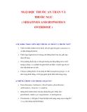 NGỘ ĐỘC THUỐC AN THẦN VÀ THUỐC NGỦ ( SEDATIVES AND HYPNOTICS OVERDOSE )