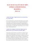 XUẤT HUYẾT DẠ DÀY-RUỘT TRÊN (UPPER GASTROINTESINAL BLEEDING) PHẦN II