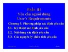 Bài giảng hệ điều hành : Yêu cầu người dùng part 1