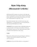 Bệnh Thấp Khớp (Rheumatoid Arthritis)