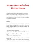 Sản phụ mất máu nhiều dễ mắc hội chứng Sheehan