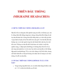 CHỨNG THIÊN ĐẦU THỐNG (MIGRAINE HEADACHES)