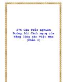 250 Câu trắc nghiệm Đường lối Cách mạng của Đảng Cộng sản Việt Nam (Phần I)