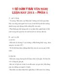 1 SỐ DÀN Ý BÀI VĂN NGHỊ LUẬN HAY 2011 – PHẦN 1
