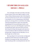 1 SỐ DÀN Ý BÀI VĂN NGHỊ LUẬN HAY 2011 – PHẦN 2