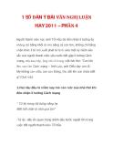 1 SỐ DÀN Ý BÀI VĂN NGHỊ LUẬN HAY 2011 – PHẦN 4