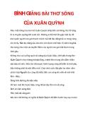 Bình giảng bài thơ Sóng của Xuân Quỳnh