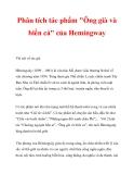 """Phân tích tác phẩm """"Ông già và biển cả"""" của Hemingway"""
