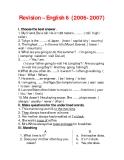Revision – English 6 (2006- 2007)