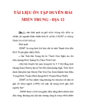 TÀI LIỆU ÔN TẬP DUYÊN HẢI MIỀN TRUNG - ĐỊA 12_1