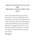 NHỮNG DI VẬT KHẢO CỔ VỀ VẢI LỤA, ĐỒ THÊU THỜI KÌ HÙNG VƯƠNG QUA NHỮNG NGÔI MỘ CỔ  - PHẦN 1