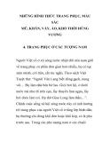 NHỮNG HÌNH THỨC TRANG PHỤC, MÀU SẮC MŨ, KHĂN, VÁY, ÁO, KHỐ THỜI HÙNG VƯƠNG - TRANG PHỤC Ở CÁC TƯỢNG NAM PHẦN 1