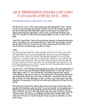 QUÁ TRÌNH KHẨN HOANG LẬP LÀNG Ở AN GIANG (THẾ KỈ XVII – XIX)