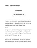 Lịch sử Thăng Long Hà Nội - Phần mở đầu