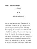 Lịch sử Thăng Long Hà Nội -  Phần một
