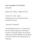 NGOẠI GIAO THỜI LÊ - TRỊNH - Quan hệ với Trung Quốc