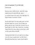NGOẠI GIAO THỜI LÊ LỢI - NGUYỄN TRÃI CHỐNG QUÂN MINH ĐÔ HỘ - PHẦN 2