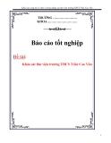 Báo cáo tốt nghiệp: Khảo sát công tác và hoạt động tại thư viện trường THCS Trần Cao Vân