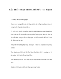 CÁC THỦ THUẬT TRONG HỒI SỨC TIM MẠCH