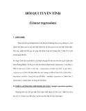 HỒI QUI TUYẾN TÍNH (Linear regression)
