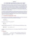 Đồ họa máy tính : CÁC PHÉP BIẾN ĐỔI TRONG ĐỒ HỌA HAI CHIỀU part 1