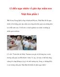 12 điều ngạc nhiên về giáo dục mầm non Nhật Bản phần 1