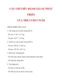 CÁC CHỈ TIÊU ĐÁNH GIÁ SỰ PHÁT TRIỂN CỦA TRẺ CUỐI 5 TUỔI